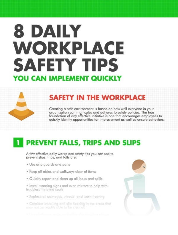 8 Daily Workplace Safety Tips